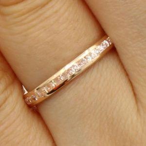 14K Rose Gold Eternity Endless Wedding Band